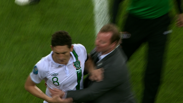 Keith Andrews leaves the pitch