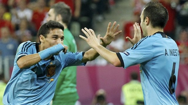 Navas scores late winner for Spain