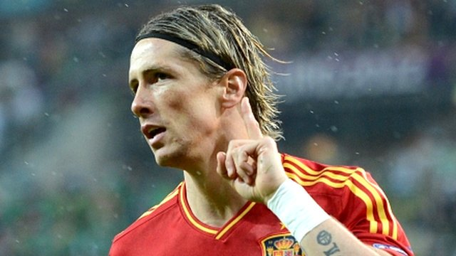 Spain striker Fernando Torres