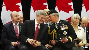 Stephen Harper and Prince Charles