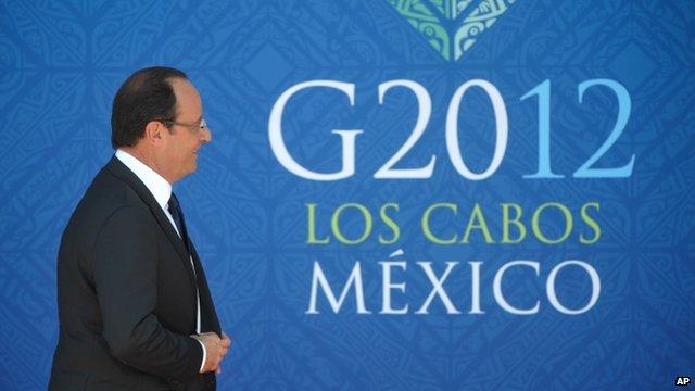 Hollande arrives at G20 summit