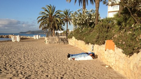 Rough sleepers in Ibiza