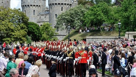 Garter Service at Windsor Castle on 18 June, 2012