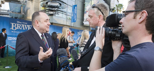 Alex Salmond at the Brave movie premiere
