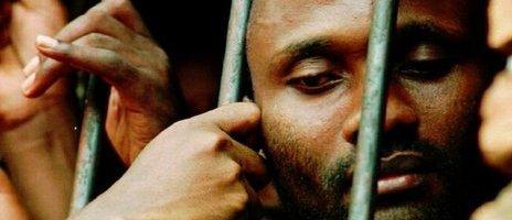 Rwandan Hutu prisoner in 1995