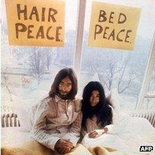 John Lennon and Yoko Ono, 1969