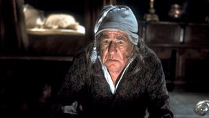 Picture shows Michael Horden in 1977 as Ebenezer Scrooge in Elaine Morgan&#039;s dramatisation of Charles Dickens&#039; novel A Christmas Carol. 