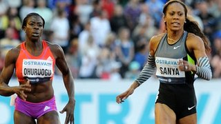 Christine Ohuruogu and Sanya Richards-Ross