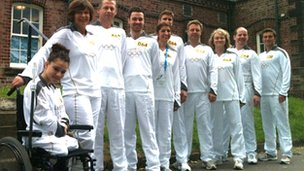 David Niblock has tweeted this photo of the Knaresborough torchbearers