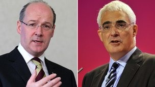 John Swinney and Alistair Darling