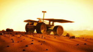 Mars vehicle illustrative