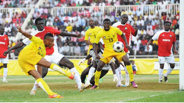 Kenya in action against Togo