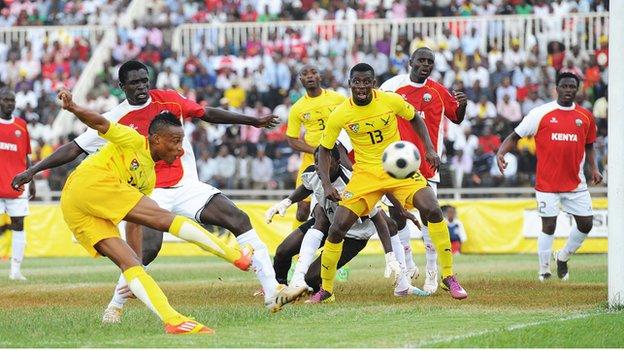 Kenya in action against Togo