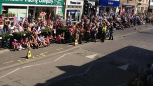 Torch fans in Ripon