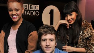 Gemma Cairney, Greg James, and Jameela Jamil