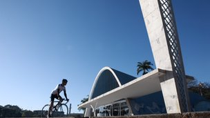 Oscar Niemeyer's Church of St Francis in Belo Horizonte