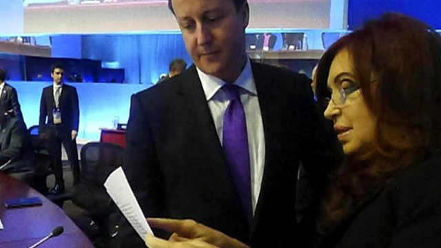 David Cameron and Cristina Fernandez 