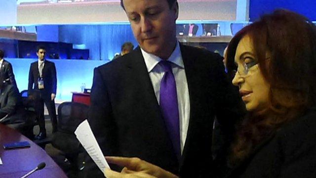 David Cameron and Cristina Fernandez