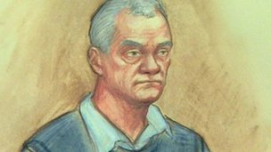 Court drawing of John Taylor