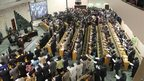 South Sudanese members of parliament take an oath in the capital Juba.