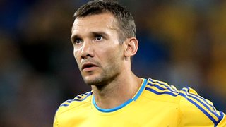 Andriy Shevchenko playing for Ukraine