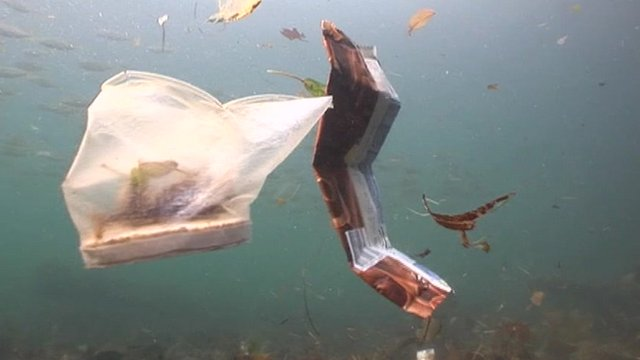 Underwater rubbish