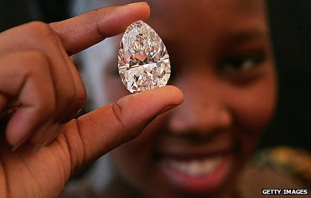 Stone cut from &#039;Lesotho Promise&#039;
