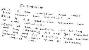 What friendship means to Florence