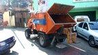 Dump truck in Morro do Borel