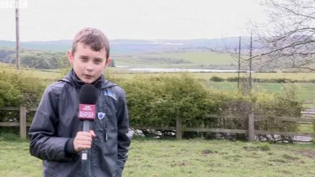 School Reporter and torchbearer Jacob