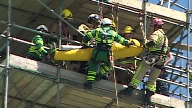 Scaffolder rescued in Great Yarmouth