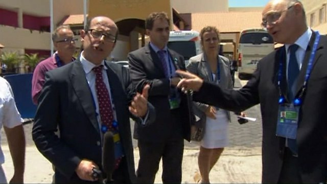 Nick Robinson reprimanded by Argentine foreign minister
