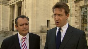 Michael Dugher (left), Dan Jarvis (right)