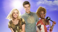 Presenters of Radio 1's Hackney Weekend 2012, Fearne Cotton, Greg James, Gemma Cairney
