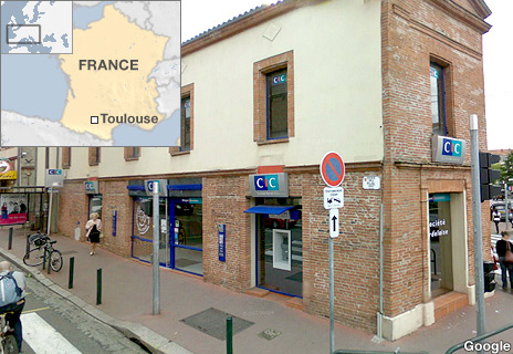 Toulouse bank where hostages are being held