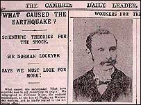 How the Cambrian Daily Leader reported the Swansea quake