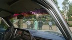 The windscreen of the car which was used by the gunmen who tried to assassinate Hosni Mubarak on 26 June 1995 as his motorcade drove from Addis Ababa airport on his way to the opening of the Organisation of African Unity summit.