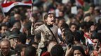 Young girl holds up an Egyptian flag in Tahrir Square (4 February 2011)