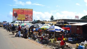 Market in Monrovia