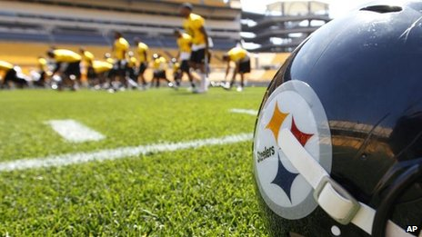 Pittsburgh Steelers training