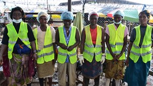 Rubbish collectors from Monrovia