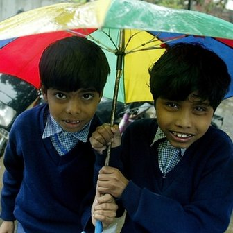 Two Indian school boys
