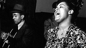 Billie Holiday recording in 1939