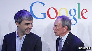 Larry Page and Michael Bloomberg