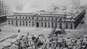 Palacio de la Moneda, Sep 1973