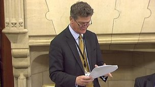 Stephen Lloyd addressing MPs at Westminster Hall