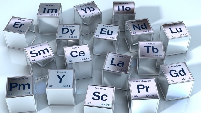 Periodic table blocks for rare earths