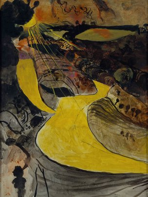Welsh Landscape with Yellow Lane, 1939-40 © Estate of Graham Sutherland