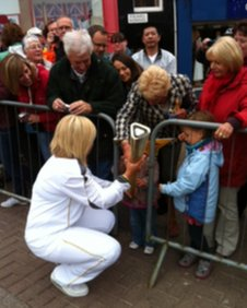Touching the torch in Dumfries