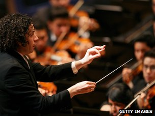 Conducto Gustavo Dudamel and the Simon Bolivar Symphony Orchestra